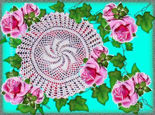 """Текстиль, ковры ручной работы. Ярмарка Мастеров - ручная работа. Купить салфетка """"СНЕЖИНКА"""". Handmade. Хлопок"""