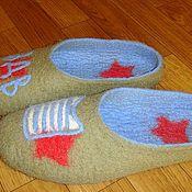 """Обувь ручной работы. Ярмарка Мастеров - ручная работа тапочки """"ВДВ"""". Handmade."""