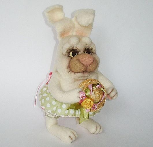 """Игрушки животные, ручной работы. Ярмарка Мастеров - ручная работа. Купить заяц """" мисс Полли"""".. Handmade. Мокрое валяние"""