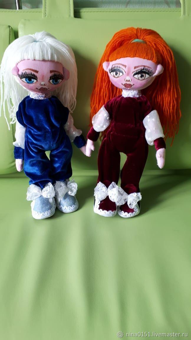 Коллекционные куклы ручной работы. Ярмарка Мастеров - ручная работа. Купить Подружки. Handmade. Текстильная кукла, кружево, капрон