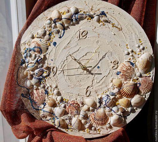 """Часы для дома ручной работы. Ярмарка Мастеров - ручная работа. Купить Настенные часы """"Забытое время"""". Handmade. Бежевый"""