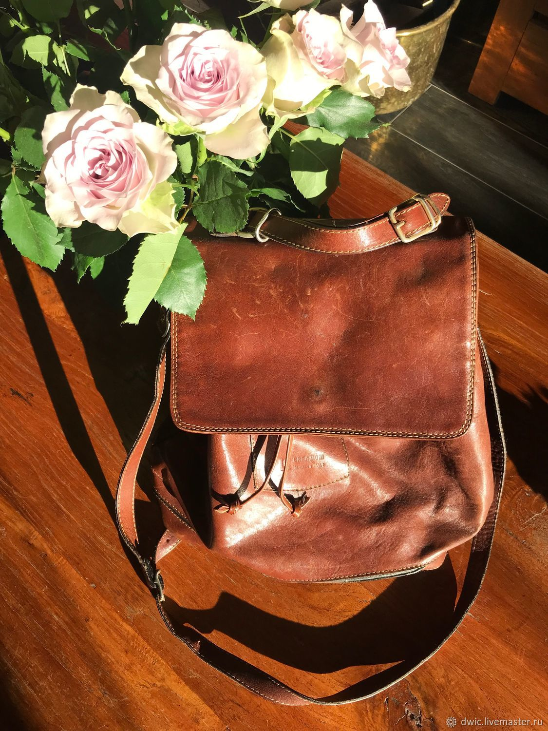 0c7e8cf06 Vintage Clothing & Accessories. Livemaster - handmade. Buy Vintage leather  bag, Italy.