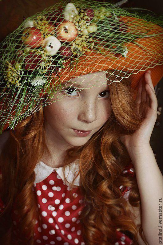 Детские карнавальные костюмы ручной работы. Ярмарка Мастеров - ручная работа. Купить шляпа для фотосессий Летняя пора. Handmade.