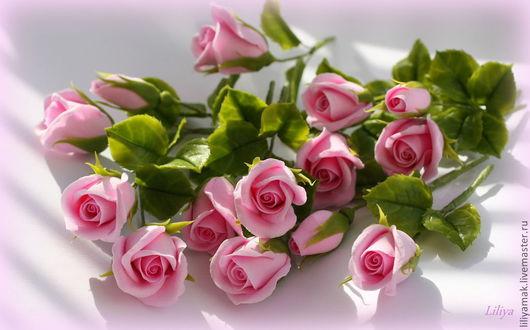 Свадебные аксессуары ручной работы. Ярмарка Мастеров - ручная работа. Купить Бутоны розовых роз (для свадебных приглашений). Handmade.