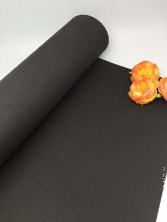 Фоамиран премиум 1 мм 50х50 (цвет 48) чёрный