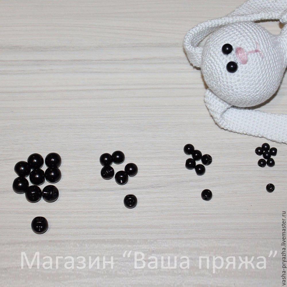 глазки для игрушек пришивные 6 8 10 и 12 мм фурнитура глаза
