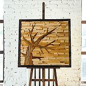 """Картины ручной работы. Ярмарка Мастеров - ручная работа Картина из состаренного дерева """"Осень"""". Handmade."""