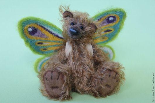 Мишки Тедди ручной работы. Ярмарка Мастеров - ручная работа. Купить Нильс - мини-мишка. Handmade. Мишка, бабочка, шерсть