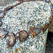 Украшения handmade. Livemaster - original item Momijigari necklace made of natural Brazilian Agates!!!. Handmade.