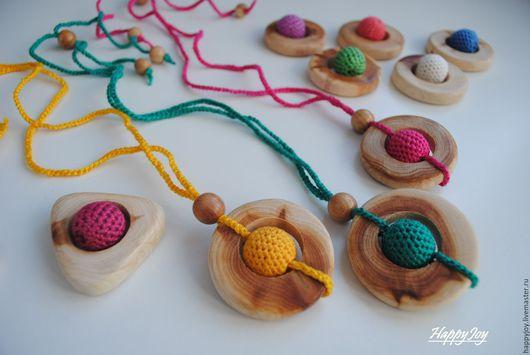 Развивающие игрушки ручной работы. Ярмарка Мастеров - ручная работа. Купить Слингокулон деревянный. Handmade. Комбинированный, можжевеловые бусины, прорезыватель