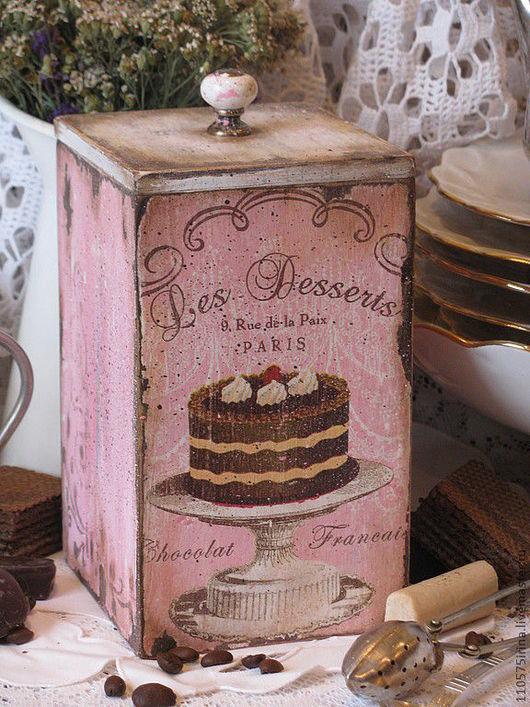 """Корзины, коробы ручной работы. Ярмарка Мастеров - ручная работа. Купить """" les Desserts..."""" Короб.. Handmade. Франция"""