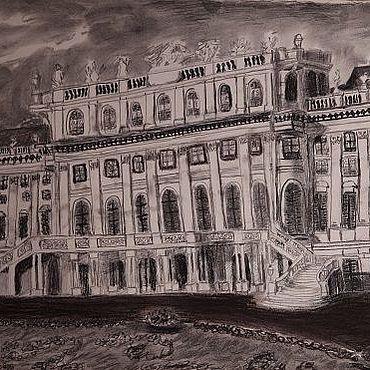 Картины и панно ручной работы. Ярмарка Мастеров - ручная работа Замок Шенбург. Handmade.