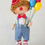 Куклы и пупсы ручной работы. Ярмарка Мастеров - ручная работа Интерьерная авторская кукла Клоун. Handmade.