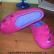 """Обувь ручной работы. Ярмарка Мастеров - ручная работа Тапочки """"Розовое настроение"""". Handmade."""