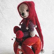 Куклы и игрушки ручной работы. Ярмарка Мастеров - ручная работа Мишка-арлекин. Handmade.