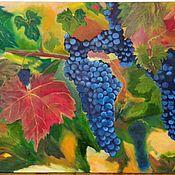 Картины и панно handmade. Livemaster - original item The grapes are ripe. Handmade.