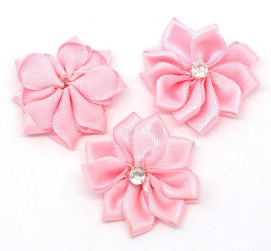 Шитье ручной работы. Ярмарка Мастеров - ручная работа. Купить Цветы 30мм (розовые, голубые, фиолетовые). Handmade. Шитье