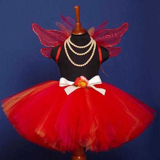"""Детские карнавальные костюмы ручной работы. Ярмарка Мастеров - ручная работа. Купить """"Тропическая бабочка"""" карнавальный костюм юбка-пачка и повяз. Handmade."""