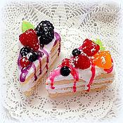 Мыло ручной работы. Ярмарка Мастеров - ручная работа Кусочек тортика ягодного в пакетике в подарок. Handmade.