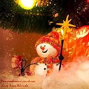 Куклы и игрушки ручной работы. Ярмарка Мастеров - ручная работа Рождественский снеговичок. Handmade.