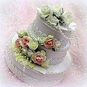 """Свадебный салон ручной работы. Ярмарка Мастеров - ручная работа Торт-коробочка """"Свадебная"""". Handmade."""