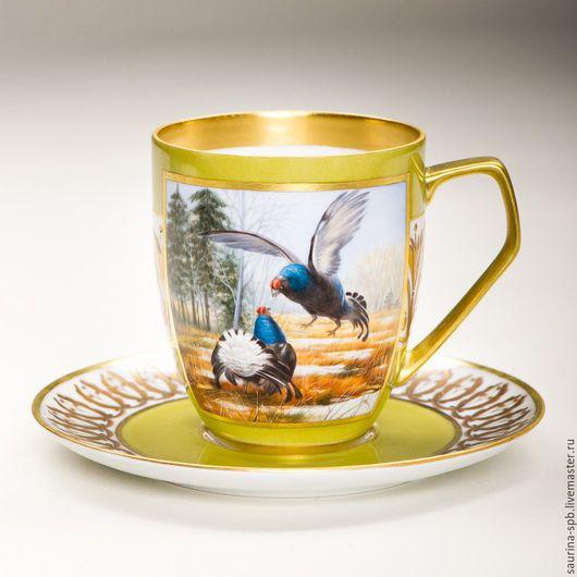 Персональные подарки ручной работы. Ярмарка Мастеров - ручная работа. Купить чайный комплект. Handmade. Подарок мужчине, муфельный обжиг