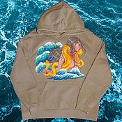 Одежда handmade. Livemaster - original item Hand-painted hoodies / hoodies / sweatshirts. Handmade.