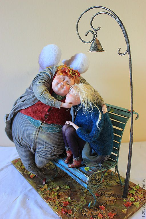 """Коллекционные куклы ручной работы. Ярмарка Мастеров - ручная работа. Купить авторская кукла """"Осенний вечерок"""". Handmade. необычный подарок"""