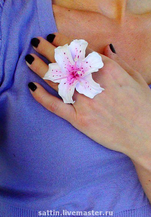 """Кольца ручной работы. Ярмарка Мастеров - ручная работа. Купить Кольцо """"Лилия"""". Handmade. Авторское кольцо, лилия, авторское украшение"""