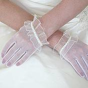 Перчатки ручной работы. Ярмарка Мастеров - ручная работа Перчатки: Свадебные женские перчатки. Handmade.