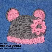 """Работы для детей, ручной работы. Ярмарка Мастеров - ручная работа шапка """"Мышка с цветком"""". Handmade."""