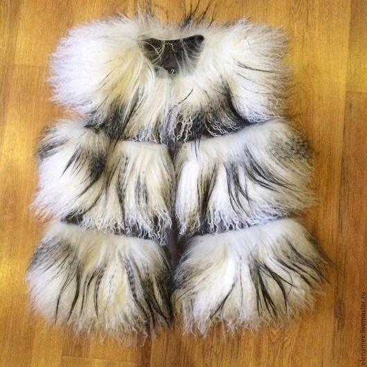 Верхняя одежда ручной работы. Ярмарка Мастеров - ручная работа. Купить Жилет из ламы и яка. Handmade. Шуба, пошив шубы