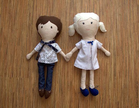 Человечки ручной работы. Ярмарка Мастеров - ручная работа. Купить Кукла игровая: девочка и мальчик. Handmade. Кукла игровая, игрушка