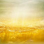Картины и панно handmade. Livemaster - original item Photo pictures of the sea, Abstract seascape Wave of amber light. Handmade.