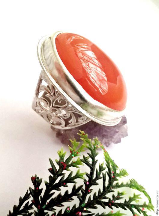 """Кольца ручной работы. Ярмарка Мастеров - ручная работа. Купить Кольцо """"Любава""""-Сердолик,серебро 925. Handmade. Сердолик"""