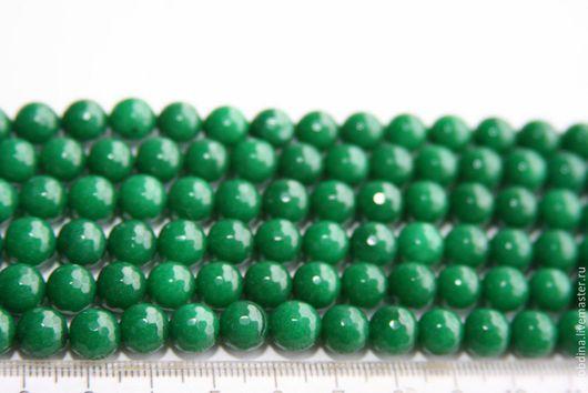 Для украшений ручной работы. Ярмарка Мастеров - ручная работа. Купить Агат тонированный  8мм нить. Handmade. Зеленый