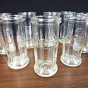 Винтажные новые стеклянные ретро стаканы, СССР