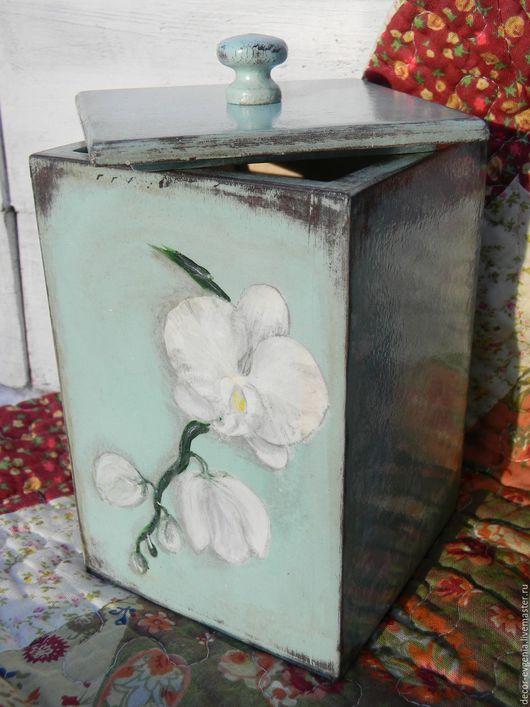 """Кухня ручной работы. Ярмарка Мастеров - ручная работа. Купить Короб """"Белая орхидея"""". Handmade. Комбинированный, короб для сладостей, для кухни"""