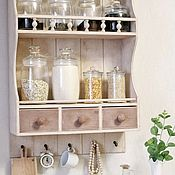Для дома и интерьера handmade. Livemaster - original item Shelf for spices jars dishes for the kitchen for Provence style. Handmade.