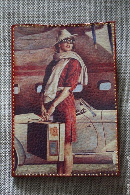"""Обложки ручной работы. Ярмарка Мастеров - ручная работа. Купить Обложка на авто документы """"Я жду тебя..."""". Handmade."""