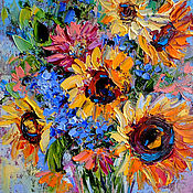 Картины и панно handmade. Livemaster - original item The picture of sunflowers