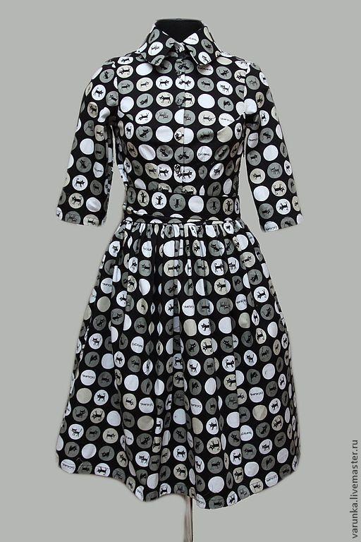 """Платья ручной работы. Ярмарка Мастеров - ручная работа. Купить Платье """"ПрожекторКотаПерисХилтон""""). Handmade. Черный, Кошки, черное платье"""
