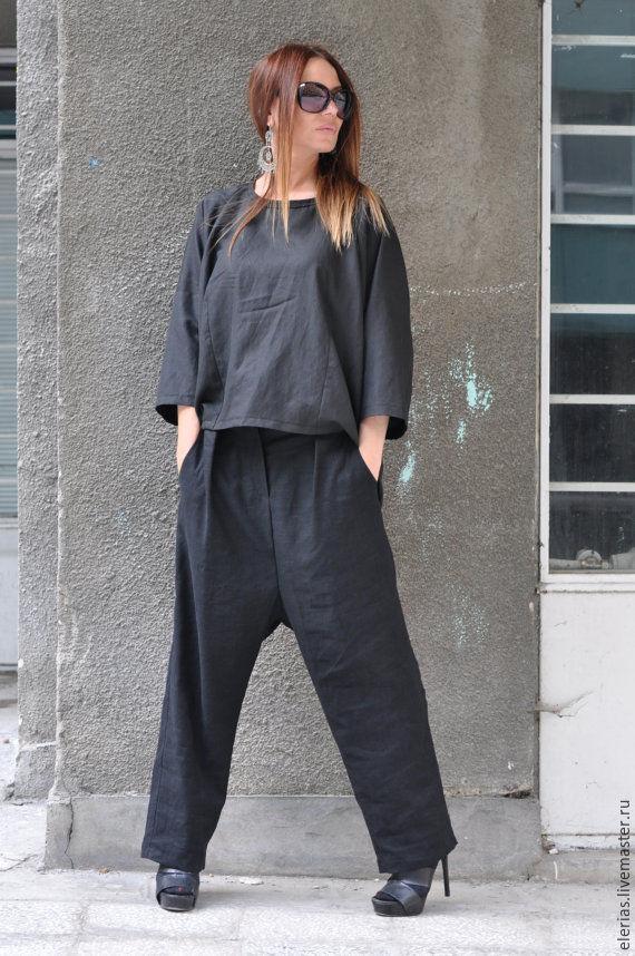 Women's linen suit, Fashion suit for women Pants and blouse