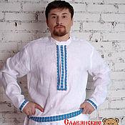 Русский стиль handmade. Livemaster - original item Men`s linen shirt