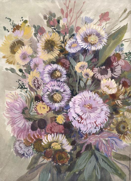 Картины цветов ручной работы. Ярмарка Мастеров - ручная работа. Купить Букет полевых цветов. Handmade. Комбинированный, букет цветов