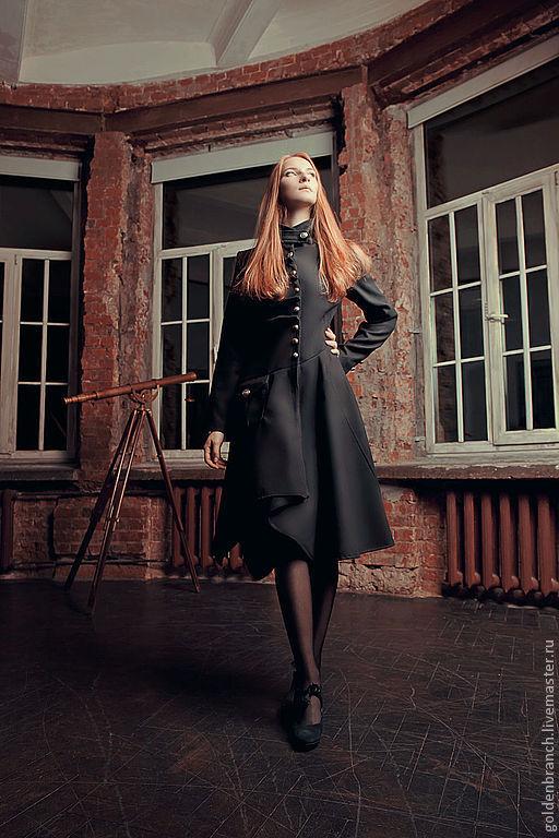 Верхняя одежда ручной работы. Ярмарка Мастеров - ручная работа. Купить Элегантное черное пальто. Handmade. Пальто, винтаж