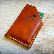 Сумки и аксессуары handmade. Livemaster - original item Business card holder made of genuine leather 20 colors. Handmade.