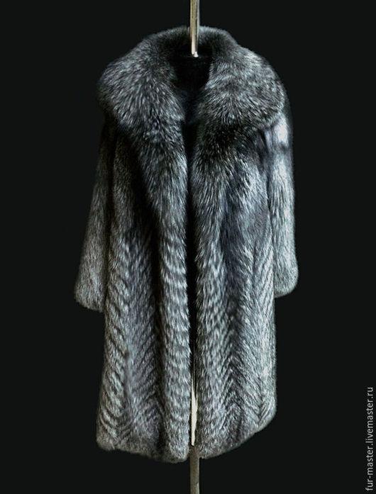 Верхняя одежда ручной работы. Ярмарка Мастеров - ручная работа. Купить Шуба из серебристо-черной лисы. Handmade.