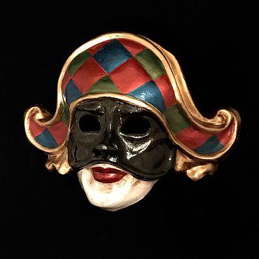 Для дома и интерьера ручной работы. Ярмарка Мастеров - ручная работа Маска венецианская Арлекино Гранде. Handmade.