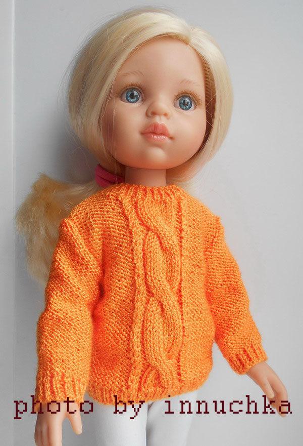 Свитер для девочки Паола Рейна, Одежда для кукол, Санкт-Петербург, Фото №1